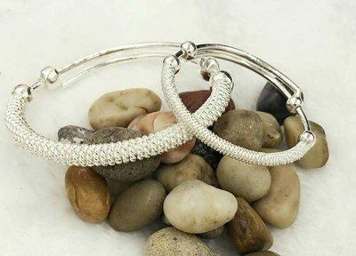 【小糖雜貨舖】香港代購 正生銀飾 【兒童款】繩紋手鐲 手鍊 手環