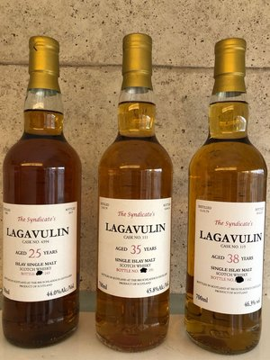 Lagavulin 25, 35, 38 Limited Edition Collection 拉加維林高年份限量版