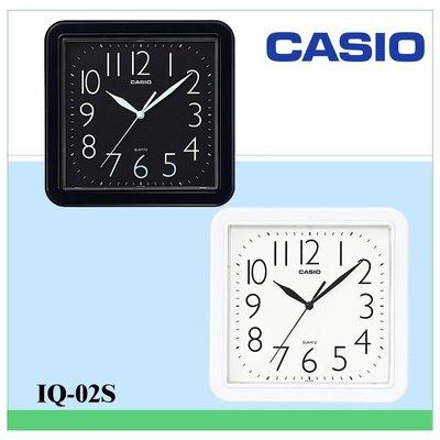 CASIO時鐘 居家必備 大數字 對比顏色 大方流線正方形掛鐘(10吋) 保證公司貨附保固卡全省保固IQ-02S 彰化縣