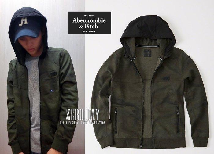 【零時差美國時尚網】A&F真品Abercrombie&Fitch Sport Full-Zip Hoodie連帽外套迷彩