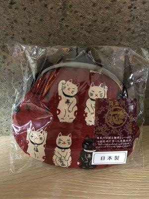 (現貨)日本製 招財貓 鈕扣錢包👛