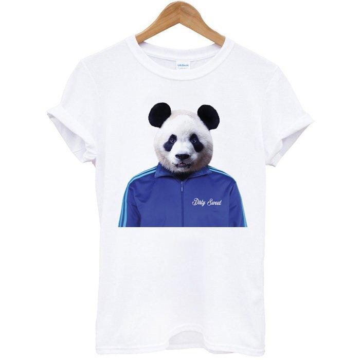 Panda Jacket 短袖T恤 白色 t 熊貓貓熊環保設計動物狗狗趣味幽默