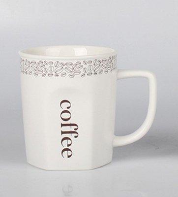 馬克杯系列(500個起訂)  六角亮面白色馬克杯-矮款