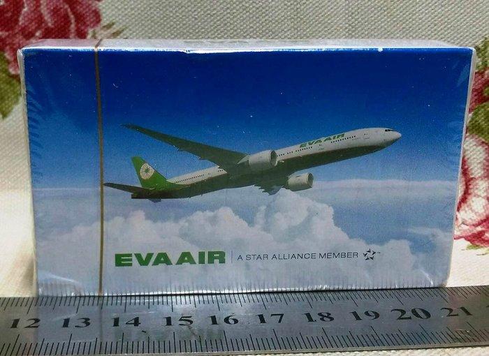龍廬-自藏出清航空公司撲克牌~EVA AIR長榮航空飛機圖案撲克牌/起標為單副/只有1副