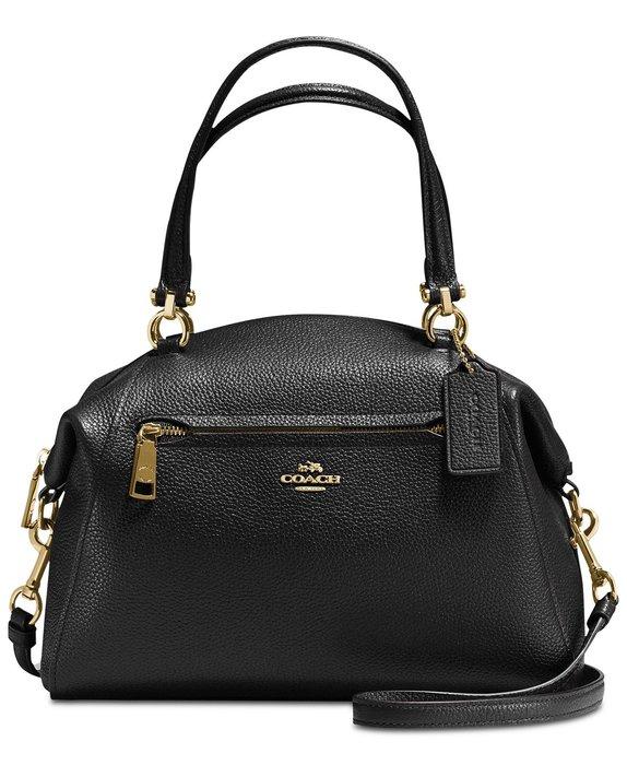 美國名牌COACH 58874 Prairie Satchel 專櫃款黑色皮革手挽側斜背包現貨在美特價$5680含郵