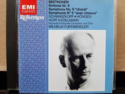 "Furtwangler,Beethoven:Sym No.9,福特萬格勒指揮拜魯特音樂節管弦及合唱團,演繹貝多芬:第九號交響曲 ""合唱""."