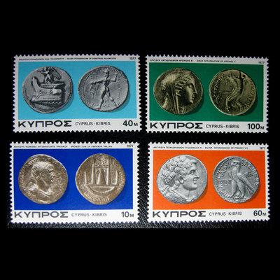 淘樂樂錢幣收藏 # 郵票YB1550*塞浦路斯1977古代銀幣4新全 台北市