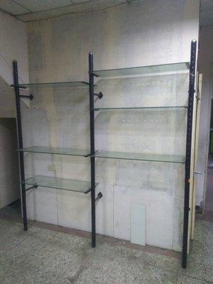 台中現貨 精品店服飾店 固定式 玻璃 展示架 陳列架 展示櫃  固定層架 (二手貨,2片玻璃款式=1000元.也可客製)