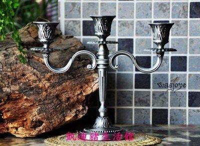 【凱迪豬生活館】橡木之靈復古歐式浪漫小號三頭燭台擺件 一個價KTZ-200943