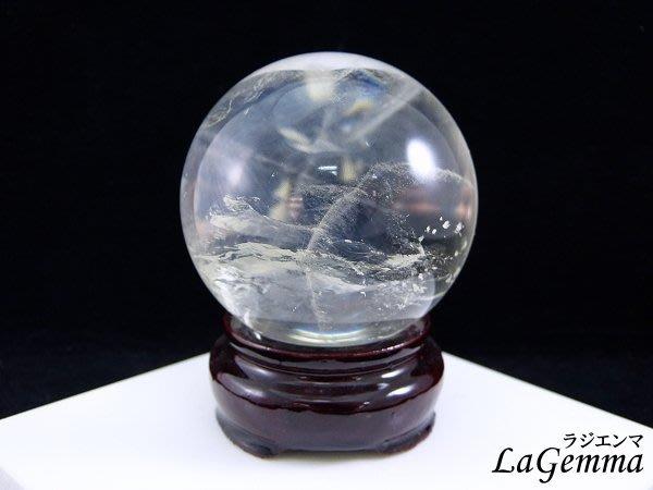 ☆寶峻鹽燈☆水晶之王 A級白水晶球 淨化能量,避邪鎮宅 欣賞天然雲霧冰紋 直徑5.7cm WB-205