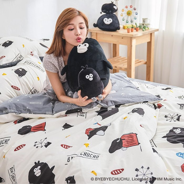 床包被套組 / 雙人加大【奧樂雞的遊樂園】含兩件枕套 100%精梳棉 戀家小舖台灣製AAL312