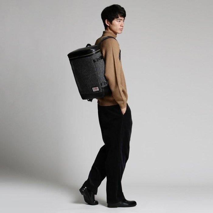 潮流服飾 全新tk.TAKEO KIKUCHI X HARRIS TWEED 聯名款後背包 上班休閒適用 可放筆電