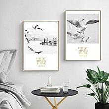 ins熱銷北歐風格海鷗畫心一群海鷗客廳沙發背景牆裝飾畫(3款可選)
