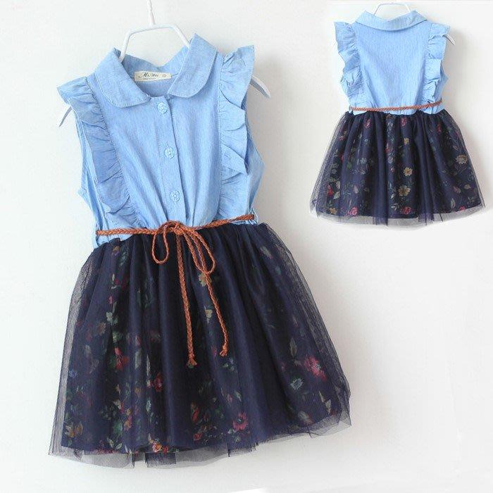 夏日《仿牛仔紗裙》甜美小洋裝 (J1-3)