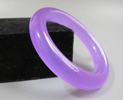 【波波小宅】紫羅蘭冰種石英岩玉手鐲 細條圓玉鐲手鐲 鐲圍19.5--704021