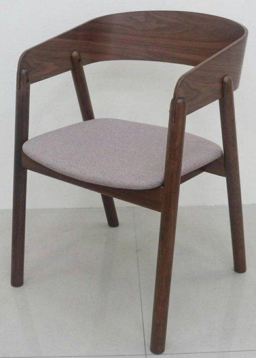 【微笑生活】史丹胡桃灰色布餐椅