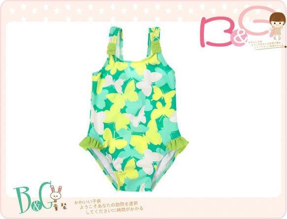 【B& G童裝】正品美國進口Crazy8 蝴蝶圖樣黃綠色連身泳裝18-24mos,2yrs(UPF50+)
