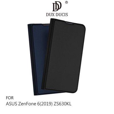 --庫米--DUX DUCIS ASUS ZenFone6 ZS630KL 奢華簡約側翻皮套 可站立 可插卡 保護套