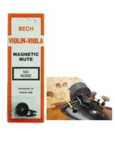 【現代樂器】荷蘭BECH magnetic Violin Viola mute 橡膠 磁力弱音器 小提琴 中提琴弱音器