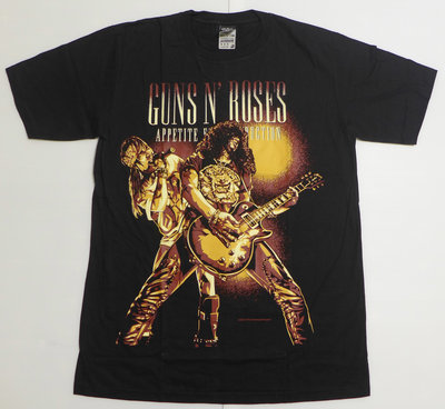【Mr.17】Slash Axl 槍與玫瑰 Guns n roses 美式漫畫搖滾進口短袖T恤T-SHIRT(N143)