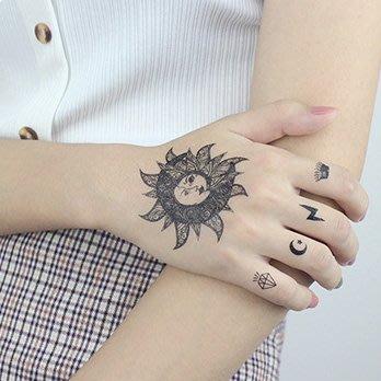 【萌古屋】】太陽圖騰 - 手背防水紋身貼紙刺青貼紙CD-135 K12