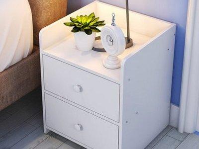 『格倫雅』簡易床頭櫃簡約現代床櫃收納小櫃子組裝儲物櫃宿舍臥室組裝床邊櫃^1753
