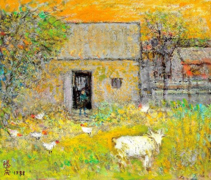 [客人寄賣] 馮騰慶 農村風光 53x45.5cm 1988 10號 油畫