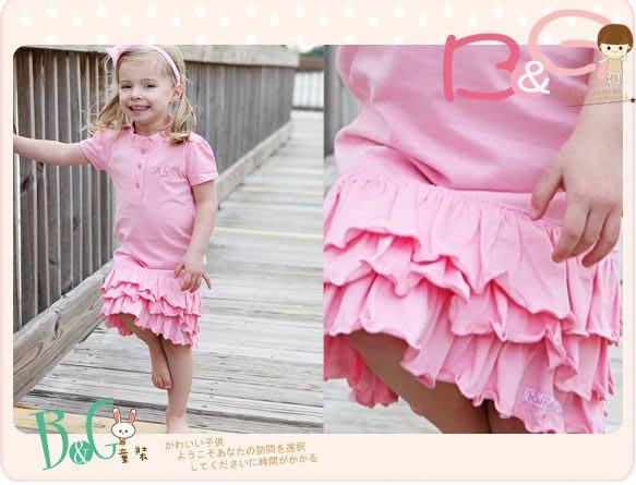 【B& G童裝】正品美國進口RuffleButts Pink Ruffled Polo Dress 粉紅色皺褶邊短袖洋裝12-18mos