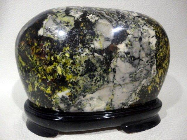 *藏雅軒*天然礦石 花東雅石系列 精選蛇紋石~2120
