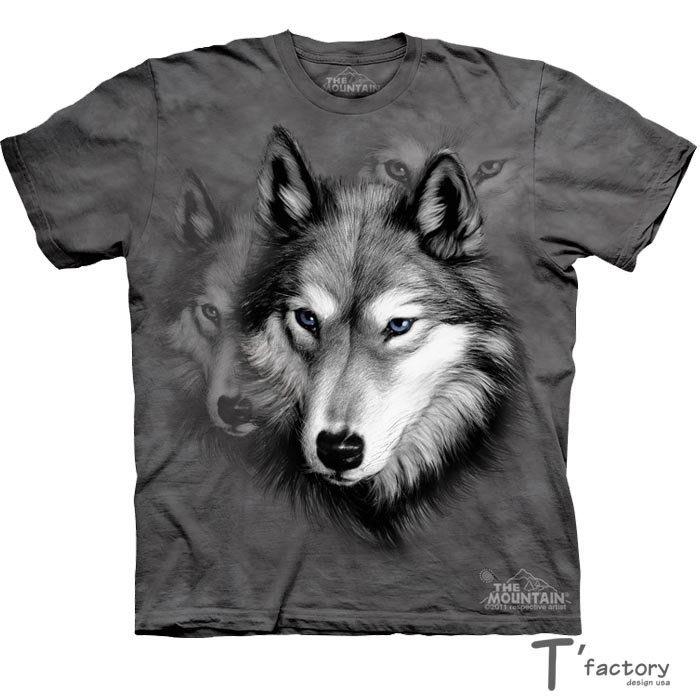 【線上體育】The Mountain 短袖T恤 L號 灰狼