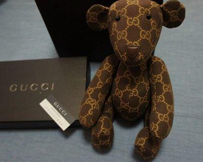 真品收藏 GUCCI 泰迪熊 棕色 全新有盒子