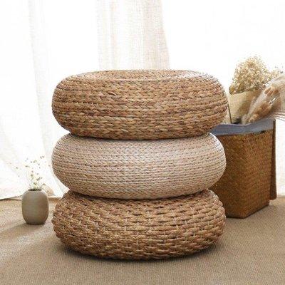 哆啦本鋪 草編蒲團坐墊 喝茶墊子加厚室內打坐拜佛墊草編墊子瑜伽坐墊地墊D655