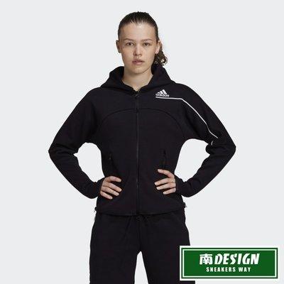 南◇2020 9月 ADIDAS Z.N.E. HOODIE 外套 GM3275 黑 白色 針織 訓練 運動外套 女款