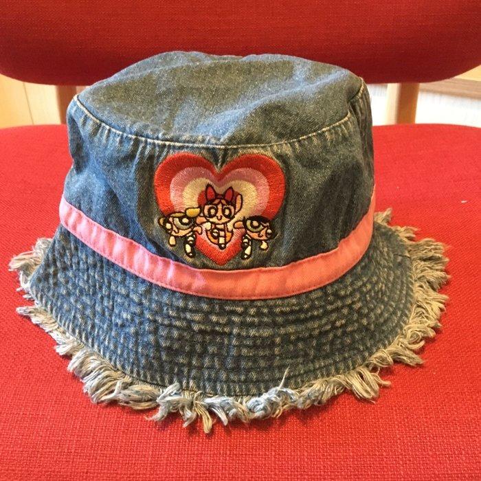 飛天小女警 兒童牛仔布桶帽/漁夫帽 刺繡Logo 帽圍約55-56cm