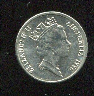 AUSTRALIA (澳大利亞), 5-CENT,K401,1996, 品相9新AU