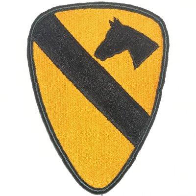 美軍公發 ARMY 陸軍 1st Cavalry Division 第1騎兵師 臂章 彩色 全新