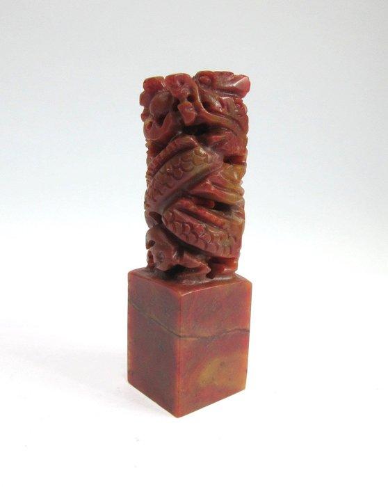 出賣家藏--高檔雕刻印材 壽山石 巴林石 雞血石 荔枝凍 杜陵石