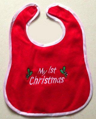 【洋洋小品寶寶聖誕圍兜XG5】繡花圍兜 兒童聖誕服 聖誕節服裝 聖誕婆婆服 服裝女孩聖誕裙聖誕帽聖披肩裝
