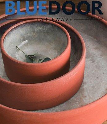 BlueD_ 古樸 紅土 陶瓷 中款 麵碗 湯碗 深心盤 二次燒製 精緻 北歐風 中國風 日式 質感設計 農村裝潢 復古