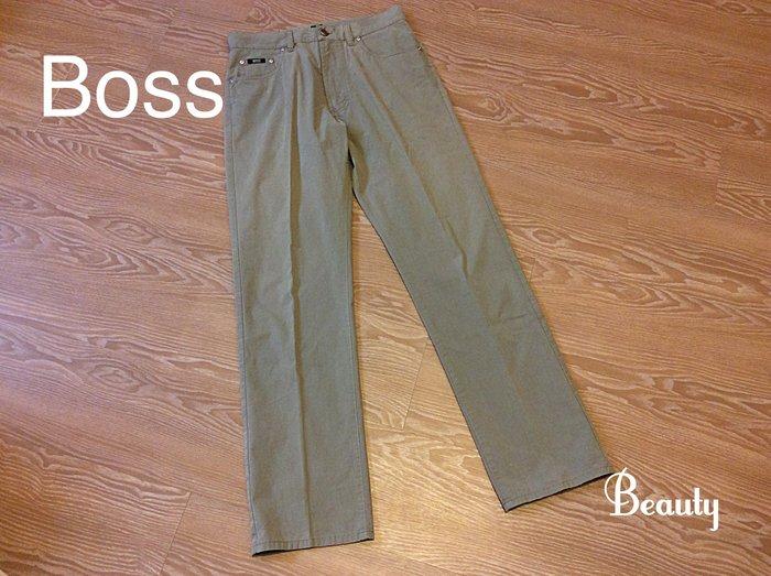 *Beauty*BOSS黑標男士灰綠色休閒長褲