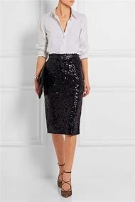 By Malene Birger sequinned pencil skirt 紫色亮片及膝裙 Size : S 全新