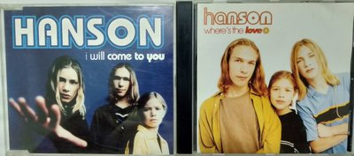 Hanson -『I Will Come To You』『Where's The Love』西洋進口版 2CD