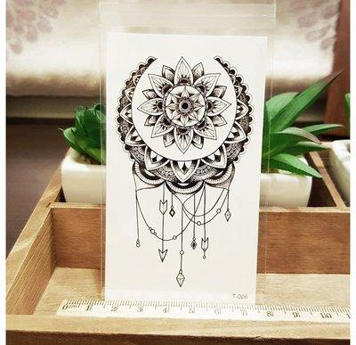 【萌古屋】花朵圖騰 - 男女防水紋身貼紙刺青貼紙 T-006