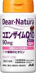 日本朝日食品 Asahi Dear Natura 輔酶Q10 30天份60粒