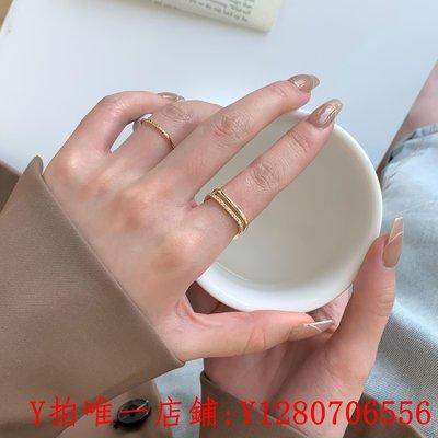 戒指小方戒方形戒指女時尚個性輕奢鋯石食指戒方鉆冷淡風指環開口素圈滿額免運