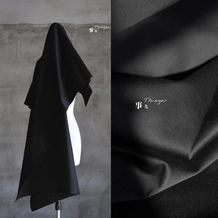 布料 啞光的禮服面料-全棉貢緞 緯向微彈 厚實挺括有型 黑色/半米價