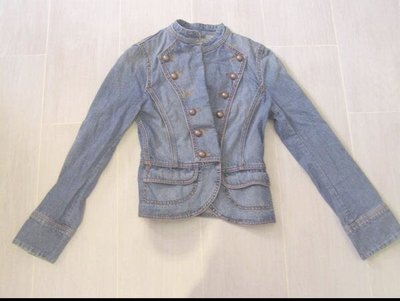98%新 正版「Esprit」修腰 牛仔 外套 Lady 1968 Blue Jean Jacket (Size:XS) 原$950