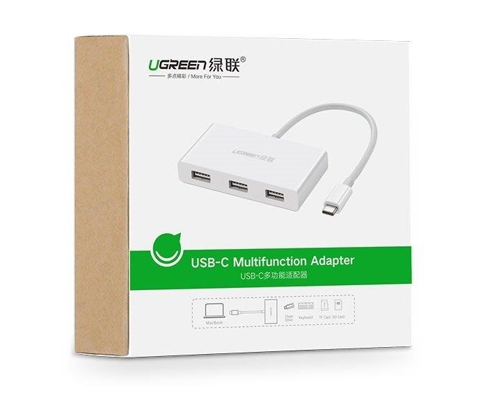 綠聯 30740 Type-C 多功能配適器 TYPE-C 轉 3PORT USB HUB + SD TF 讀卡機