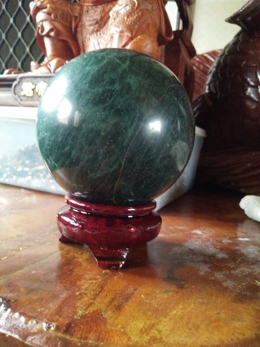 拼人氣,賠售出清,早期收藏,天然,愛情石,綠龍晶球,直徑約10公分,重約1365公克