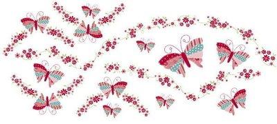 小妮子的家@手繪系列水移畫/古典玫瑰轉印貼紙/家具貼/瓷磚貼/玻璃貼~3931.1